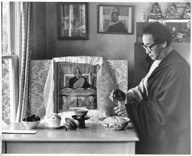 Rinpoche at Shrine