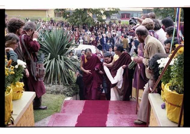 Dalai Lama Entering Sakya Tegchen Choling, 1979